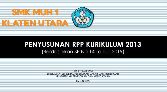Penyusunan RPP (Rencana Program Pembelajaran) SMK Muh 1 Klaten Utara