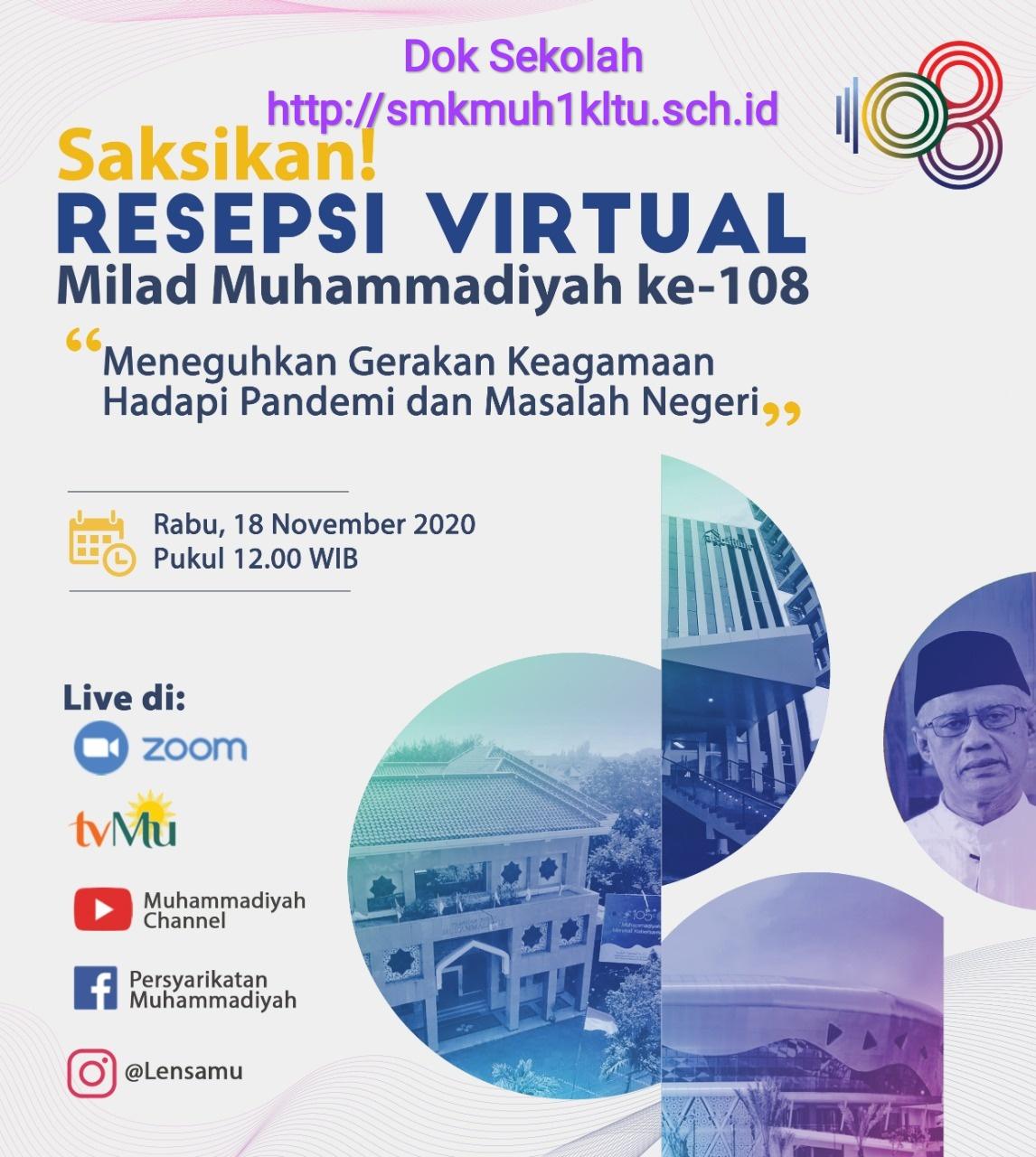 SMK Muhammadiyah 1 Klaten Utara ikuti Milad Muhammadiyah melalui zoom