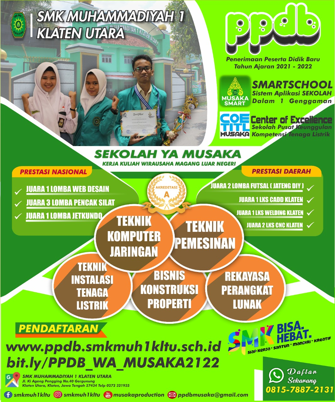 PPDB SMK Muhammadiyah 1 Klaten Utara bisa menerima penitipan calon siswa baru